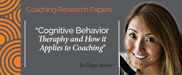cognitive behavior therapy research paper View this research paper on cognitive behavioural therapy cognitive behavioral therapy or cbt is currently the popular method to provide therapy to the client.