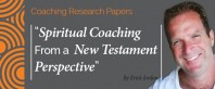 Research Paper: Spiritual Coaching From A New Testament Perspective