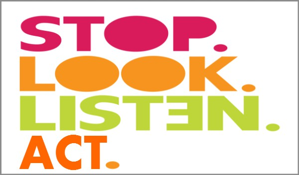 coaching model stop look listen and act