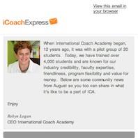 CoachExpress Newsletter December 2013