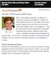 CoachExpress Newsletter November 2013