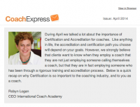 Coach Express Newsletter April 2014