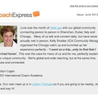 International Coach Academy June 2014 Newsletter