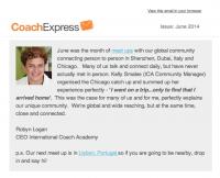 CoachExpress Newsletter June 2014