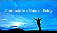 Gratitude is a State of Being