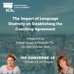 Join us at the ICF Conference in Prague Oct 2019