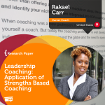 Research Paper: Leadership Coaching: Application of Strengths Based Coaching