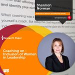 Research Paper: Coaching on – Inclusion of Women in Leadership