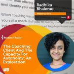 Research Paper: The Coaching Client And The Capacity For Autonomy: An Exploration