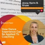 Research Paper: How Dance Experience Can Be Applied To Coaching