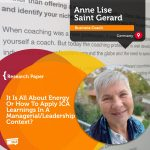 Research Paper: It Is All About Energy Or How To Apply ICA Learnings In A Managerial/Leadership Context?