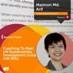 Research Paper: Coaching To Meet UN Sustainability Development Goals (UN SDG)