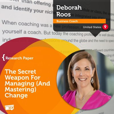 Coaching as a way to manage change