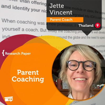 Parent Coaching Jette Vincent_Coaching_Research_Paper