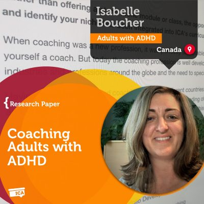 Isabelle Boucher Coaching Adults with ADHD